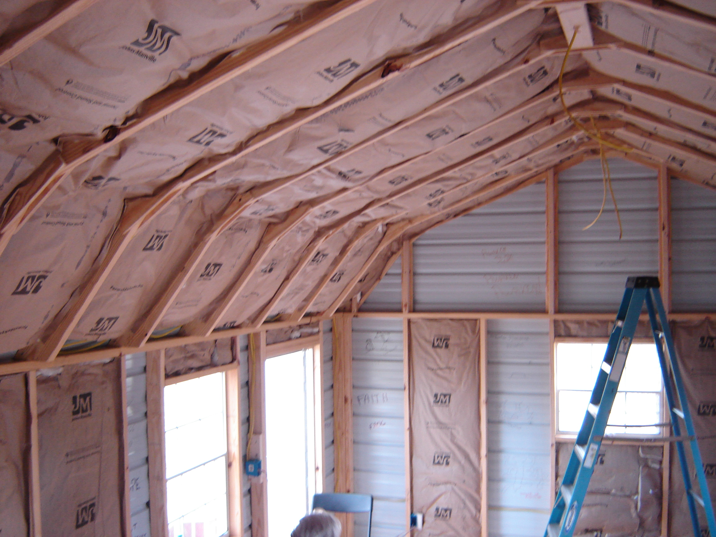 Insulation work moving along